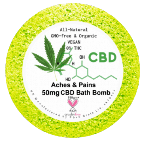 Aches and Pains CBD Hemp Oil Aromatherapy Bath Bomb - 50mg
